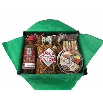 Demitri's Bloody Mary Mix Gift Set | Chilies and Peppers Bloody Mary Concentrate, Olives, and Salty Snacks | Great for the Hard to Buy For!
