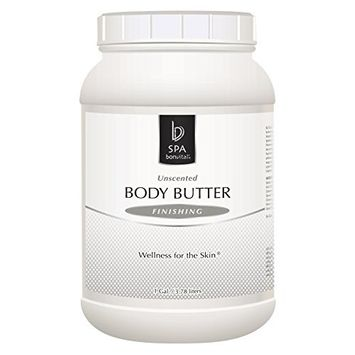 Body Butter by Bon Vital, Body Butter, Unscented Whipped Moisturizer with Cocoa Butter, Shea Butter, Beeswax, Hypoallergenic Lotion for Soft Skin, Professional Spa Quality Thick Lotion for Dry Patches, 8 oz. Jar