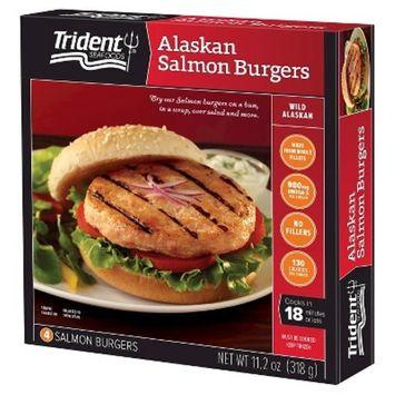 Trident Alaskan Salmon Burgers - 4ct/11.2oz