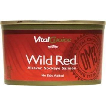 Wild Red Alaskan Sockeye Salmon No Salt Added 7.5 Ounce Can