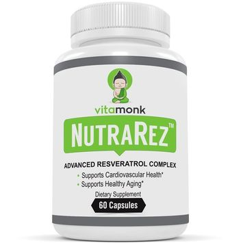 NutraRez™ Bio-Enhanced Resveratrol Supplement - Advanced Complex with Pterostilbene, Grape Seed Extract, Quercetin & Turmeric - Supplements Optimized for Healthy Aging - Best Resveratrol Capsules