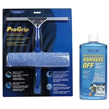 Ettore 65000 Professional Progrip Window Cleaning Kit + Ettore 30116 Squeegee Off Window Cleaning Soap, 16-Ounce