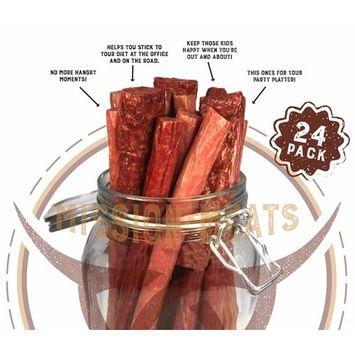 Keto Sugar Free Sampler Pack Grass Fed Beef Sticks & Bars & Healthy Free Range Turkey Sticks Gluten MSG Nitrate & Nitrite Free Paleo Friendly Snacks [Keto Sampler]