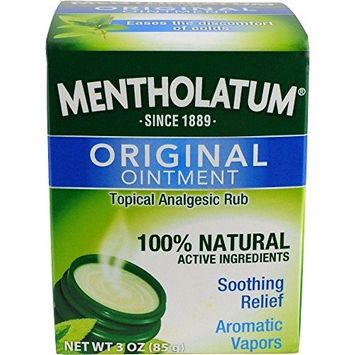 Mentholatum Ointment Topical Analgesic 3 oz (6 Pack)