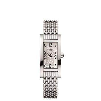 Balmain Women's Fashion Collection Silver-Tone Metal Bracelet Steel Case Quartz Analog Watch B2191.33.14