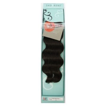 BOBBI BOSS Indi Remi OCEAN WAVE Virgin Hair, 16 Inches, 1-Jet Black []