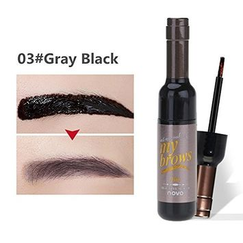 Mmrm Waterproof Long Lasting Tattoo Eyebrow Pack 6g, Peel-Off Tattoo Eyebrow Tint Gel, Gray Black