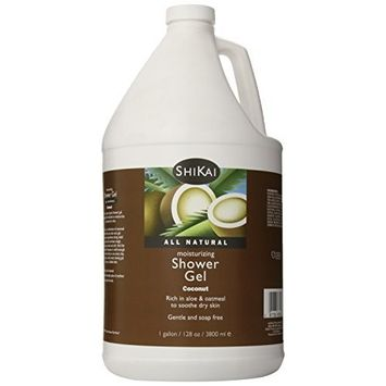 Shikai - Coconut Moisturizing Shower Gel, Rich in Aloe Vera & Oatmeal That Leaves Skin Noticeably Softer & Healthier, Relief for Dry Skin, Gentle Soap-Free Formula (Coconut, 1 Gallon)