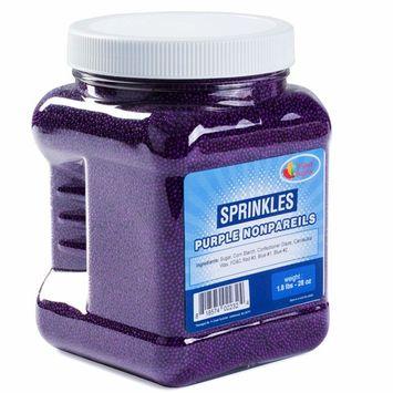 Sprinkles – Nonpareils Bulk – Purple Nonpareils in Resealable Container – Bulk Sprinkles – 1.8LB