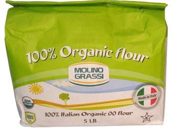 Molino Grassi 100% Italian Organic 00 Flour 5 Lb (Pack of 5)