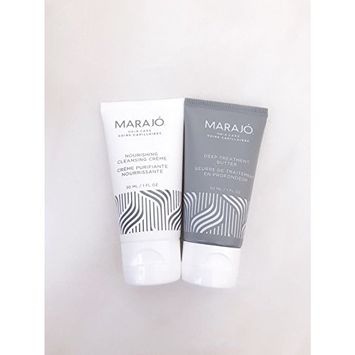 MARAJO Nourishing Cleansing Creme & Deep Treatment Butter 1 oz Each, Travel Size