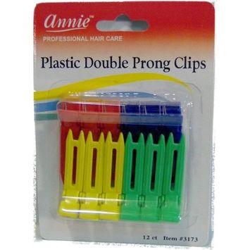 Annie Plastic Double Prong Clips #3173