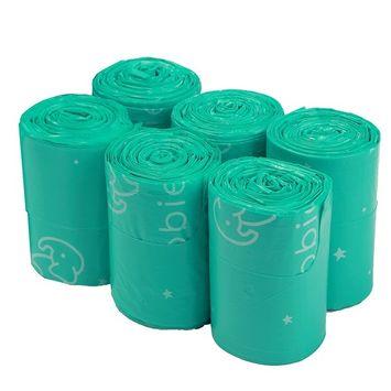 Goobie Baby Diaper Bag Dispenser Refill Rolls of Unscented Disposable Refill Bags | Waste Bag (6 Roll Bag Refill - 150 Bags)