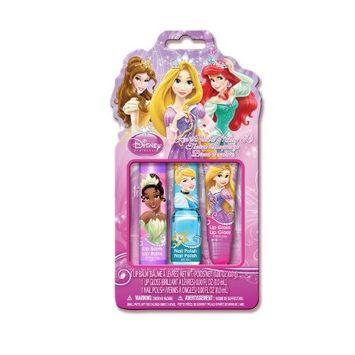 Disney Princess Kiss It Paint It Set in Pvc Pouch, 3 Count