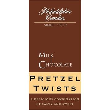 Philadelphia Candies Milk Chocolate Covered Pretzels Gift Bag Net Wt 8 oz [Milk Chocolate Pretzel Twists]