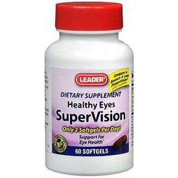 Leader SuperVision Healthy Eyes Softgels 60 Count (2 pack)