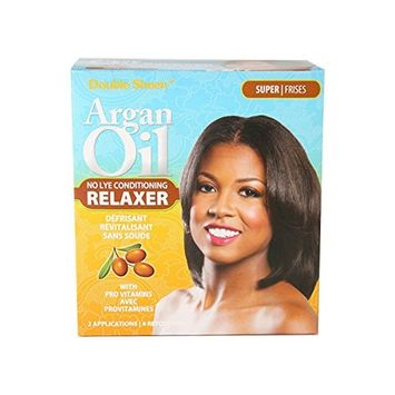 Double Sheen Argan Oil Relaxer Kit – Super