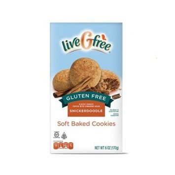 liveGfree Gluten Free Snickerdoodle Soft Baked Cookies 6oz, pack of 1