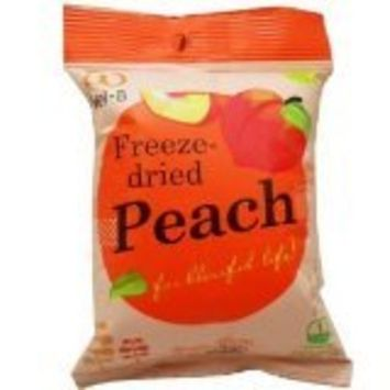 Wel-B Freeze-dried Peach, Freeze-dried Fruit Snack Unsweetened and 0% Fat, Real Healthy Snack 14g.