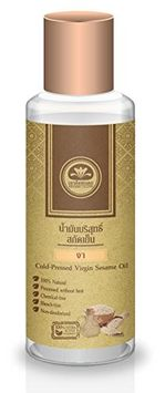 Talaypu Virgin Sesame Oil (Cold-Pressed) for Hair and Skin, 3.38 fl. oz - 100% Natural, Processed without Heat, Chemical-free, Bleach-free, Non-deodorized!