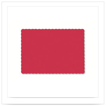 9 1/2 x 13 1/2 Red Economy Placemat/Case of 1000