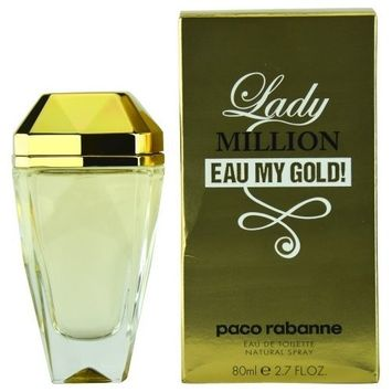 PACO RABANNE LADY MILLION EAU MY GOLD! by Paco Rabanne EDT SPRAY 2.7 OZ for WOMEN (Package Of 4)