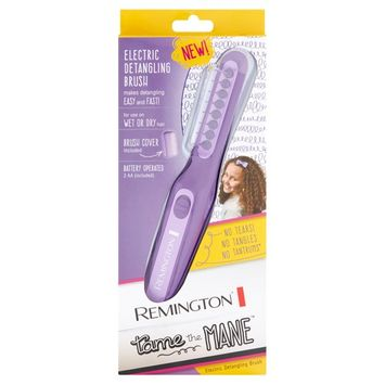 Remington Tame The Mane Electric Detangling Brush, Wet or Dry, (Batteries Included), Purple, DT7432W