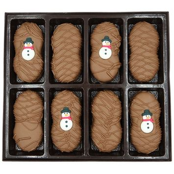 Philadelphia Candies Milk Chocolate Covered Nutter Butter Cookies, Christmas Holiday Snowman Net Wt 8 oz [Christmas Holiday Snowman]