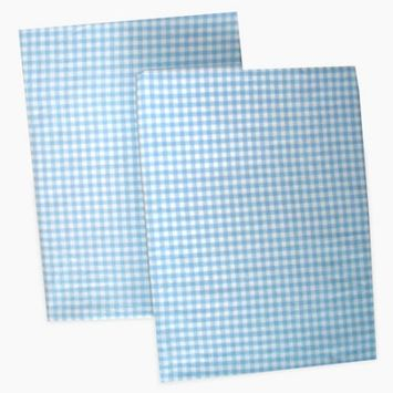 Sleeping Partners Seed Sprout Gingham Changing Pad Covers - Blue