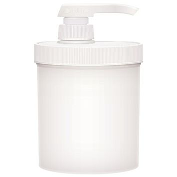 Bon Vital' 14 oz. Empty Jar with Pump for Massage Therapists, Convenient and Easy to Dispense Massage Products, Such As, Lotions, Gels, and Oils, Twist and Lock Lid, Easily Refilled
