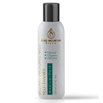 Instant Spray Tan Self Tanner - Organic and Natural Ingredients. Salon Quality Airbrush Sunless Tanner and Bronzer for At Home Use to Achieve a Natural Looking and Streak Free Tan