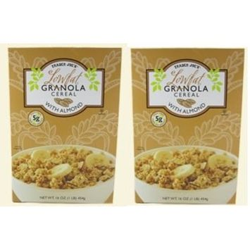 Trader Joe's Lowfat Granola Cereal with Almond 16 oz. (Pack of 2 bxs)