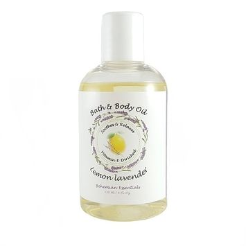 Soothing and Relaxing Lavender and Lemon Bath and Body Oil
