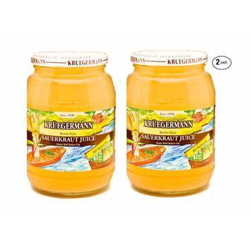 Kruegermann Premium Sauerkraut Juice 2-Pack (64 floz total)