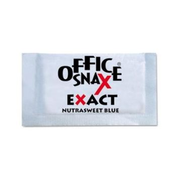 Office Snax OFX00060 Exact Nutrasweet Sweetener Packets, Individual, Zero-Calorie, Blue (Pack of 2000)
