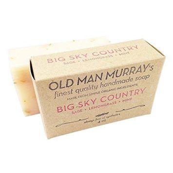 Big Sky Country Sage, Lemongrass, Mint Herbal All-Natural Soap (2 Bars)