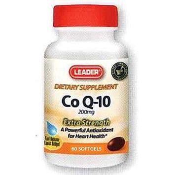Leader Co Q10 200mg Softgels 60 Ct (4 Pack)