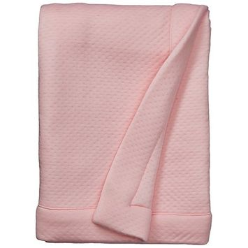 BreathableBaby Deluxe Modal Knit Baby Blanket - Lavender Moroccan [Print]