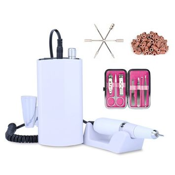 Rechargeable Nail Drill Machine Cordless Portable Manicure Set