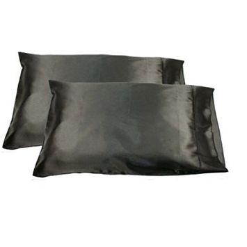 2pc Standard Silky Satin Pillow Case