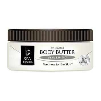 Bon Vital' Body Butter, Lavender & Rosemary Scented Whipped Moisturizer with Cocoa Butter, Shea Butter, Beeswax, Professional Spa Quality Thick Lotion for Dry Patches & Skin, 8 oz. [Lavender & Rosemary]