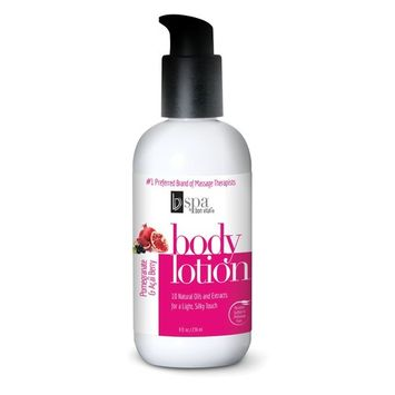 BV Spa by Bon Vital' Moisturizing Body Lotion, Pomegranate Acai Scented Body Silk for Dry Skin Repair, Anniversary Gift for Women, Moisturizer with Essential Oils for Soft Skin