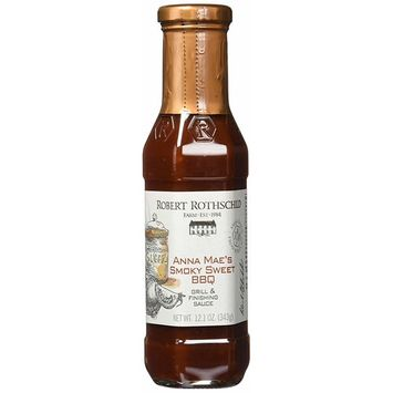 Robert Rothschild Farm Anna Mae's Smoky Sweet BBQ (12.1 oz) - Grill & Finishing Sauce - Sweet & Smoky BBQ Sauce for Ribs, Pork, Chicken, Brisket