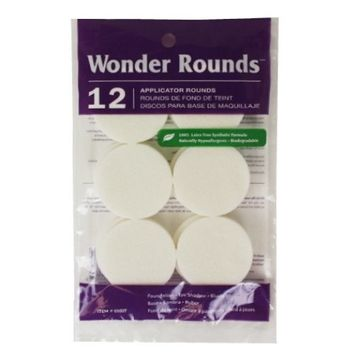 (3 Pack) Wonder Rounds 12 Applicator Rounds - White : Beauty