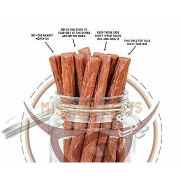 Scrumptious Jalapeno Free Range Turkey Sticks Sugar Free Gluten MSG Nitrate & Nitrite Free Paleo Keto Snacks Healthy Natural Meat Sticks (Jalapeno Free Range Turkey, 24)