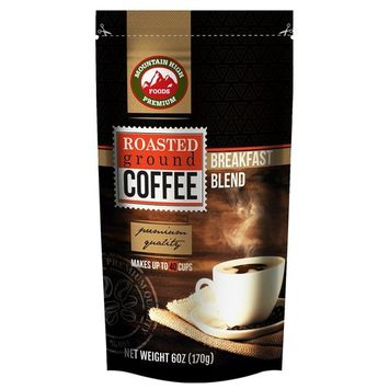 Mountain High Coffee 6oz Ground Coffee Bags 12 Count (Breakfast Blend)