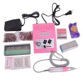 HOUSWEETY 30,000 RPM Advanced Professional Electric Nail Art File Drill Macine Manicure Sand Machine Full Kit