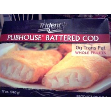 TRIDENT FROZEN SEAFOOD PUBHOUSE BATTERED COD 12 OZ PACK OF 2