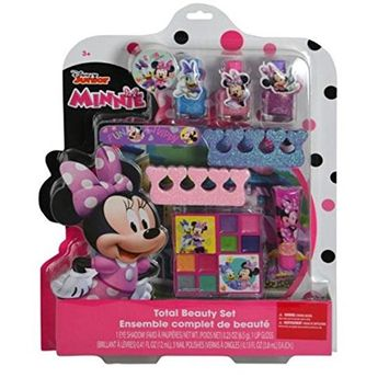 Disney Minnie Mouse Bow-tique Girls Complete Make up & Beauty Set with over 10 Pieces | +3 Years Baby/Toddler Girls Make Up Set