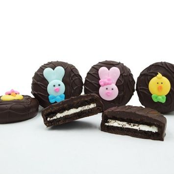 Philadelphia Candies, Dark Chocolate Covered OREO Cookies, Easter Faces Assortment Gift Box, 8 Oz